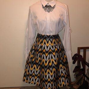 lane bryant box pleated skirt